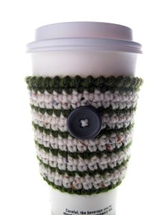 CROCHET COFFEE COZY PATTERN | Crochet For Beginners