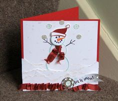 Stampin Up UK Demonstrator Zoe Tant: Christmas Card Club - Snowballs and Glitter