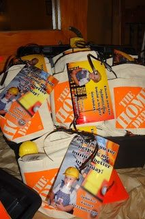 The Turner Boys - Home Depot nail aprons made awesome goody bags for our construction birthday party.