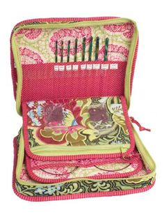 "Pattern $9.99: Needle artists will love this stylish case.   This case is perfect for knitters and crocheters to keep all the tools of their trade handy at all times. Travel-friendly, customizable pockets and sturdy construction make carrying hooks, needles and other supplies a breeze. The ideal gift for the crafter in your life, this case will make the perfect Christmas or birthday present. Finished size is 10 1/2""W x 8 1/2""H x 3 1/2""D."