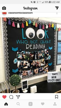 Excellent DIY Classroom Decoration Ideas & Themes to Inspire You Spectacular classroom decor ideas for high school // perfect bulletin board idea for classroom – Education School Displays, Classroom Displays, Classroom Organization, Classroom Management, Book Displays, Classroom Display Boards, Display Boards For School, Diy Classroom Decorations, School Decorations