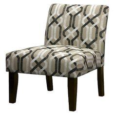 Avington Upholstered Slipper Chair Multi Neutral Geo