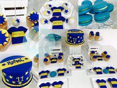 Boca Juniors Cake Futbol Boca Jr, Birthday Party Decorations, Desserts, Food, Frases, Themed Cakes, Sweets, Red Bathroom Decor, Tailgate Desserts