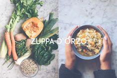 Una zuppa d'orzo calda e saporita che racchiude tutti i sapori dell'autunno.