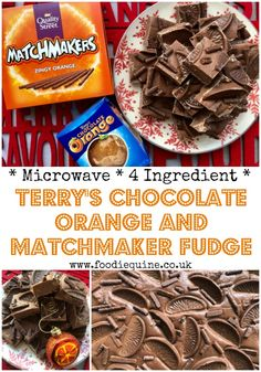 Such an quick and easy four ingredient festive fudge to make in the microwave. Zingy Orange additions from Terry's Chocolate Orange and Orange Matchmakers for a real taste of Christmas. No tricky temperatures or boiling hot sugar required! Terry's Chocolate Orange, Best Chocolate, Chocolate Fudge, Chocolate Recipes, Chocolate Heaven, Christmas Fudge, Christmas Baking, Christmas Recipes, Christmas Hamper