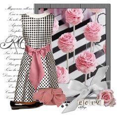 """Pink n' Black Gingham Style"" by kginger on Polyvore"
