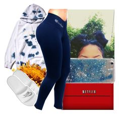 """Goodnight *not my best*"" by aribearie ❤ liked on Polyvore featuring FUCT, Sony and NIKE"