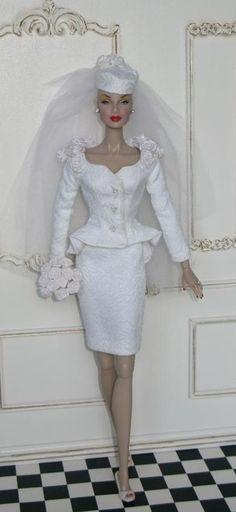 Barbie Bridal, Barbie Wedding Dress, Wedding Doll, Barbie Gowns, Barbie Dress, Barbie Clothes, Wedding Dresses, Fashion Royalty Dolls, Fashion Dolls