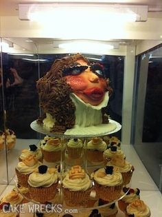 A cake for a victim of whiplash or a fan of turtlenecks? Dear lord what am I looking at?