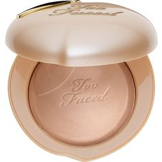 Too Faced Peach Frost Melting Powder Highlighter Peaches and Cream... ($30) ❤ liked on Polyvore featuring beauty products, makeup, face makeup, face powder and too faced cosmetics