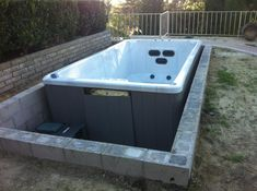 vault for in-ground spa