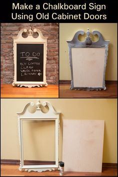 If you're looking for a cheap bulletin board, then this upcycled door is for you.
