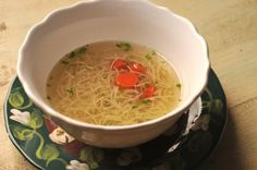 Typical German Chicken Soup - the best broth ever!