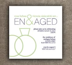 Engagement Party Invitation Rehearsal Dinner by TheMemoryTrunk, $3.50