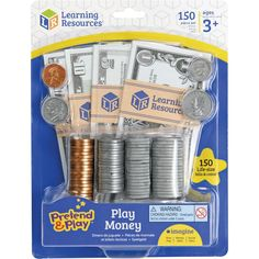 Learning Resources Pretend and Play Play Money Counting Math Currency 150 Pieces Ages 3 Learning Toys, Learning Resources, Preschool Learning, Toys For Girls, Kids Toys, Play Money, Help Teaching, Teaching Channel, Pretend Play