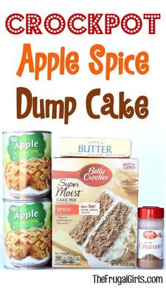 This easy Crock Pot Dump Cake is the perfect ending to any day! Capture the cozy flavors of Fall with Apples, Cinnamon and Spice. Dump it in and walk away!