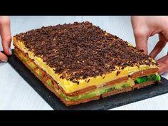 No Cook Desserts, Dessert Recipes, Serbian Recipes, Kakao, Tiramisu, Cheesecake, Deserts, Veggies, Food And Drink