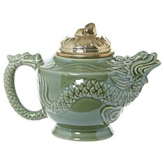 khaki Carolyn Donnelly Eclectic Dragon Teapot