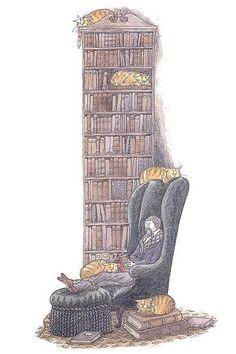 """Books. Cats. Life is good."" ― Edward Gorey"