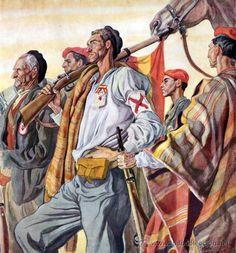Calendario Original de 1939. Ilustraciones de Carlos Sáenz de Tejada. Guerra Civil Española - Foto 1