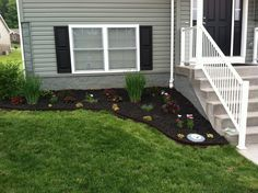 2014 landscaping! Vigo espresso black rubber mulch EcoBorder Rubber L Edging (Home Depot)