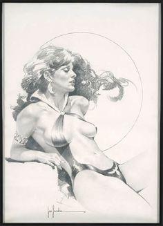 Original •Jose Gonzalez VAMPIRELLA Pinup Art (1981)