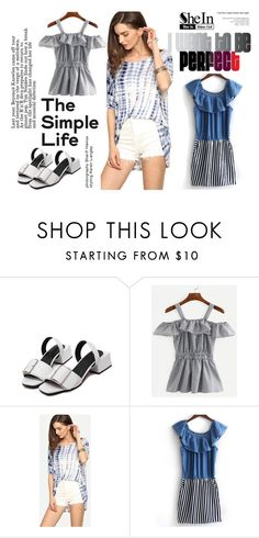 """...."" by red-rose-girl ❤ liked on Polyvore featuring modern, outfit, Sheinside and shein"