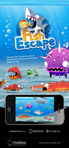 Fish Escape Game by Loay Neirat, via Behance
