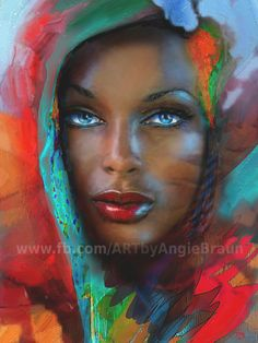 www.facebook.com/ARTbyAngieBraun  (c)    Shops:  https://1-angie-braun.pixels.com/ ✿ http://www.redbubble.com/people/angiebraun ✿ http://theo-danella.pixels.com ✿ http://www.redbubble.com/people/theodanella    ✿ #woman #Beauty #black #africa #blueeyes #art #painting #blackbeauty #arts #oilpainting #beautiful #Mocca #coffe #sensual #blackbeauty #portrait #artsy
