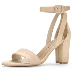 a56a0ac5867f Allegra K Women s PU Panel Chunky Heel Sandals -- Read more reviews of the  product by visiting the link on the image. (This is an affiliate link)   ...