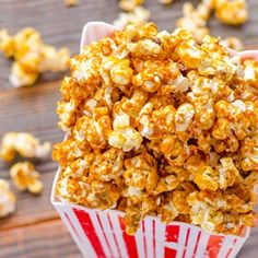 Healthy Caramel Popcorn HealthyAperture.com