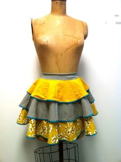 little Miss Mod - Women's Apron sz Small  Heavy Sugar Aprons  by theHouseofLux, $57.00