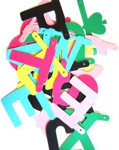 DIY word banner multi colour
