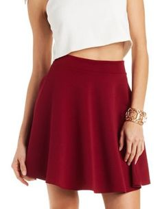 Ribbed Skater Skirt #CharlotteLook #Skirt
