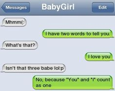 Text Message from Baby Girl