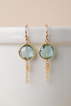 Unique Handcrafted Simple Quartz Tassel Dangle Earrings for Women - Key016E