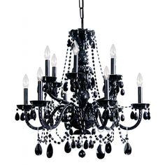 Transitional 12-light Black Crystal Chandelier   Overstock™ Shopping - Great Deals on Chandeliers & Pendants