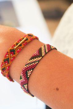 Bracelet manchette en perles japonaises tissées par SianaJewelry