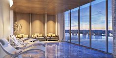 Turnberry Ocean Club-Sky Club Spa with Relaxation Lounge #SunnyIsles