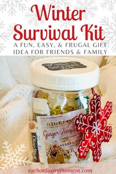 This fun and easy DIY gift in a jar is simple to put together and is a perfect gift for teachers, coworkers, friends, and family. Grab a mason jar, or any extra quart size jar you have on hand, and fill it with winter essentials that everyone needs. This super thoughtful but inexpensive gift is great for everyone on your list this holiday season. Let's make it!