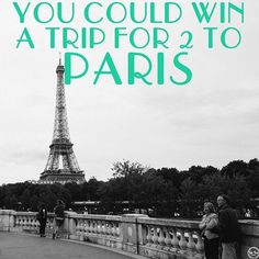 Ummm.. YES PLEASE!!!! Free Trip to Paris Giveaway | Fat Tire Tours