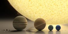 Wonderful render of our solar system to scale from Roberto Ziche. The planets and the Sun have rarely looked so intricately beautiful. Solar System To Scale, Our Solar System, Scale Of The Universe, Solar System Projects, Dwarf Planet, Carl Sagan, Last Day Of School, Space Images, Science Projects