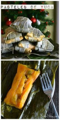 Pasteles de yuca are a classic Puerto Rican holiday staple that involves some work, but it's definitely worth it when you're enjoying the delicious results. Puerto Rican Dishes, Puerto Rican Cuisine, Puerto Rican Recipes, Pasteles Puerto Rico Recipe, Puerto Rican Appetizers, Pasteles Recipe, Puerto Rican Cake Recipe, Yummy Recipes, Mexican Food Recipes