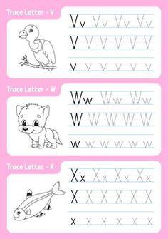 Handwriting Worksheets For Kids, Alphabet Tracing Worksheets, Alphabet Coloring Pages, Alphabet Worksheets, Writing Practice For Kids, Alphabet Writing Practice, Learning The Alphabet, Writing Letters, Numbers Preschool