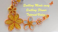 DIY Craft Ideas-How to make Beautiful Quilling Yellow.Orange Flower New design -Paper Art Quilling