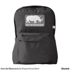 Save the Rhinoceros American Apparel™ Backpack