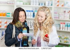 Young female pharmacist and customer reading prescription paper at pharmacy counter , Merchant Account, Security Solutions, Young Female, High Risk, Model Release, Design Tutorials, Pharmacy, Photo Editing, Presentation