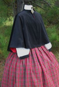 Victorian Dickens Christmas Carolers Holiday Costume Set Cape