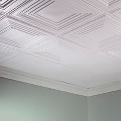 ae4f475c351 Fasade Traditional Style  3 Gloss White 2 ft. x 4 ft. Glue-