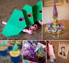 Ok, i wouldn't have a Tangled party, but love the noise blower idea for a lizard party Rapunzel Birthday Party, Tangled Party, Disney Princess Party, 4th Birthday Parties, Birthday Fun, Birthday Ideas, Tangled Princess, Birthday Board, Birthday Crafts